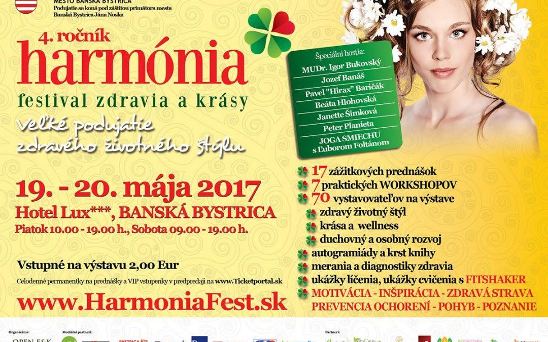 Pozvánka: Príďte zažiť Harmóniu – festival zdravia akrásy